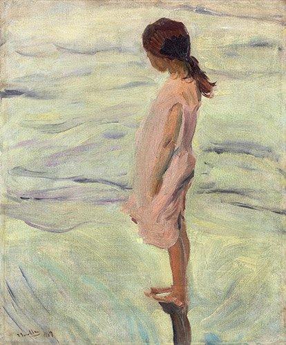 quadros-de-paisagens-marinhas - Quadro - Despues de puesto el sol, 1907 - Sorolla, Joaquin