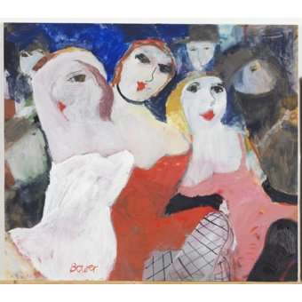 Quadros para sala - Quadro -Les Belles Dames, 2009 (oil on board)- - Bower, Susan