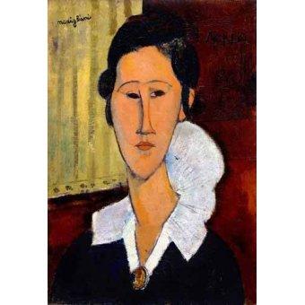 - Quadro -Retrato de Anna Zborowska- - Modigliani, Amedeo