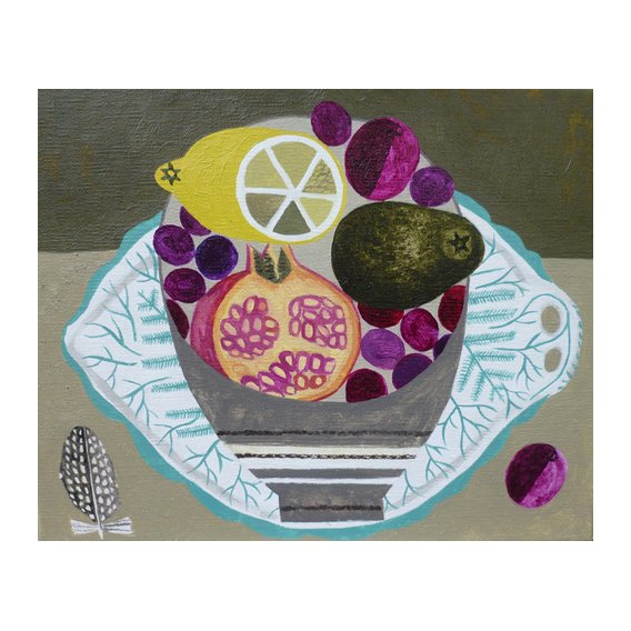 Quadro -Fruitbowl on Fern Plate-