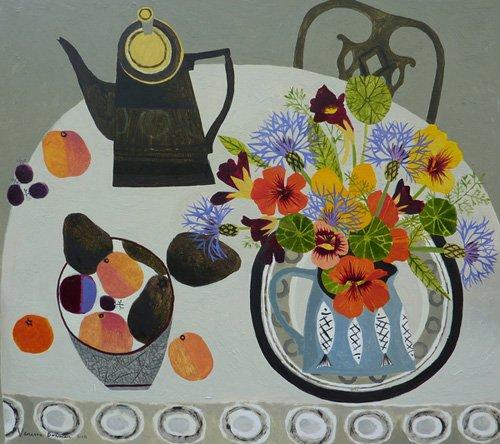quadros-modernos - Quadro -Nasturtiums ,Peaches and Avocados- - Bowman, Vanessa