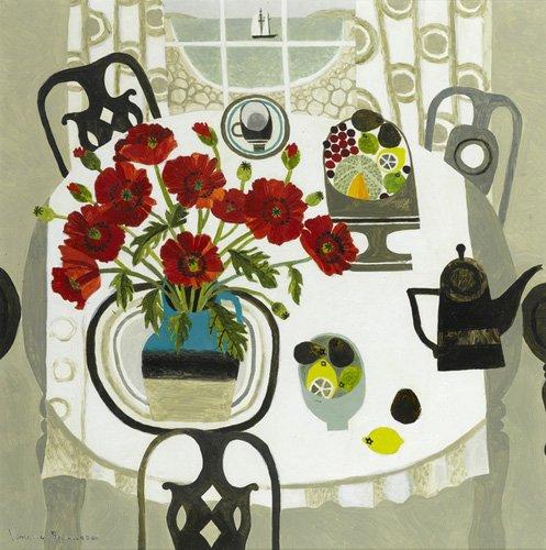 quadros-modernos - Quadro -Red Poppies and Beach- - Bowman, Vanessa
