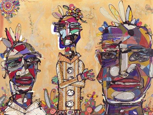 quadros-etnicos-e-orientais - Quadro -Filmic, 2007 (mixed media)- - Breslin, Anthony