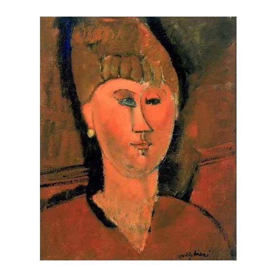 pinturas do retrato - Quadro -La chica roja-