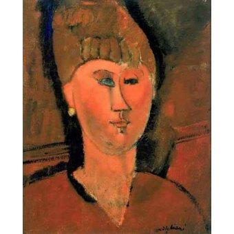 - Quadro -La chica roja- - Modigliani, Amedeo