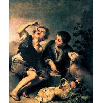 - Quadro -Niños comiendo pasteles- - Murillo, Bartolome Esteban