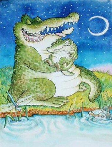 quadros-infantis - Quadro -Crocodile Lullaby - - Christie, Maylee