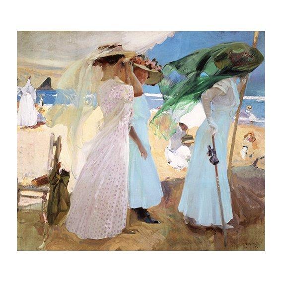 Quadro - Bajo el toldo, Zarautz, 1910 -