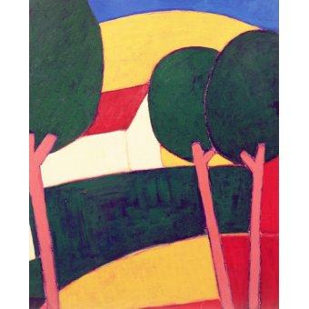 Quadros modernos - Quadro - Provencal Paysage, 1997 - - Donne, Eithne