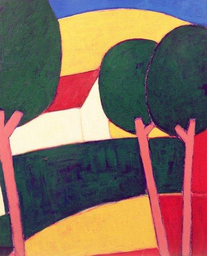 quadros-modernos - Quadro - Provencal Paysage, 1997 - - Donne, Eithne