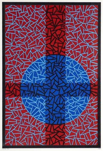 quadros-abstratos - Quadro - Deep Blue Placebo - - Dunn, Alex