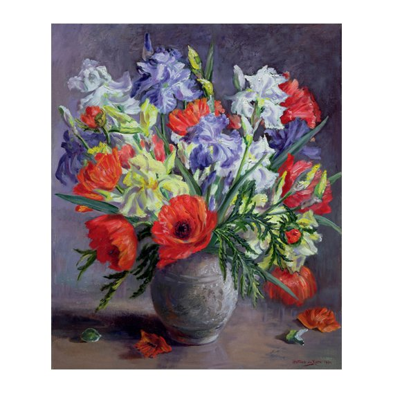 Quadro - Poppies and Irises, 1991 -