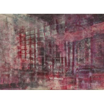 - Quadro -Interior Screen Composition red- - Carline, Hermione
