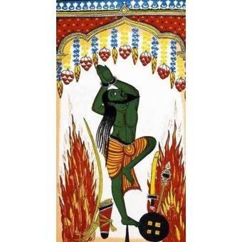 - Quadro -Ardjama, hombre santo, rezando en penitencia- - _Anónimo Indú