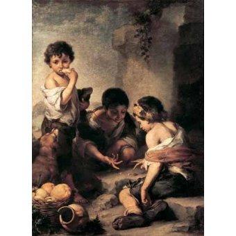 - Quadro -Niños jugando a los dados- - Murillo, Bartolome Esteban