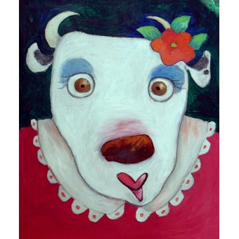quadros infantis - Quadro -Silly Cow (oil on canvas)- - Christie, Maylee