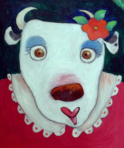 quadros-infantis - Quadro -Silly Cow (oil on canvas)- - Christie, Maylee