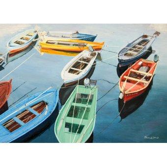- Quadro - Bright Boats at La Coruña, Spain - - Fandino, Anthony