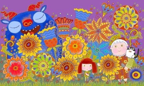 quadros-infantis - Quadro -Nan's Garden, 2017 (mixed media)- - Christie, Maylee