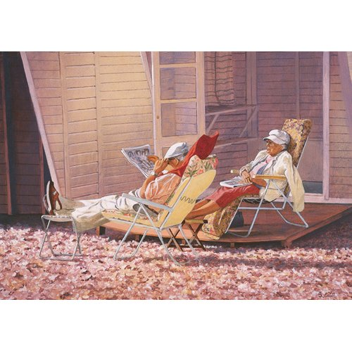 Quadro -Evening Rest (oil on canvas)-