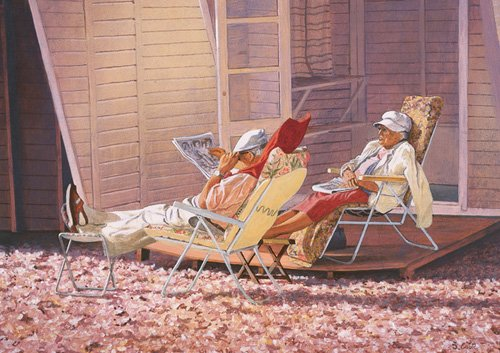 quadros-modernos - Quadro -Evening Rest (oil on canvas)- - Cook, Simon