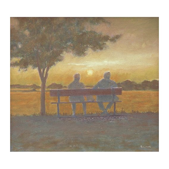 Quadro -Sunset (oil on canvas)-