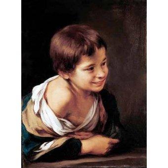 - Quadro -Niño apoyado en un alfeizar- - Murillo, Bartolome Esteban