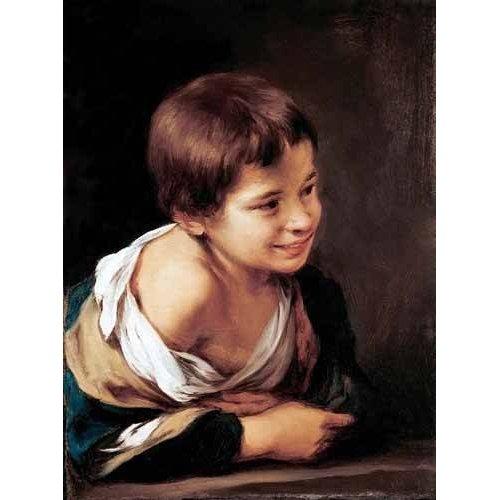 Quadro -Niño apoyado en un alfeizar-