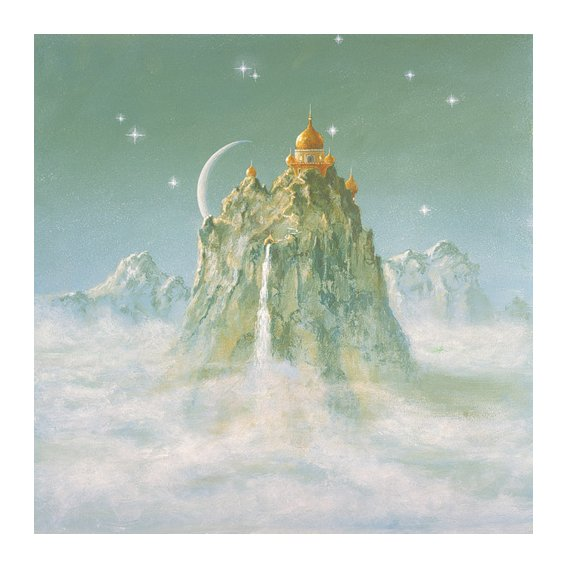 Quadro -Temple in the Mountain (acrylic on canvas)-