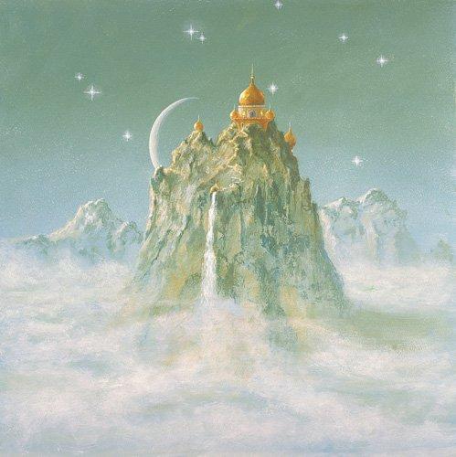 quadros-modernos - Quadro -Temple in the Mountain (acrylic on canvas)- - Cook, Simon