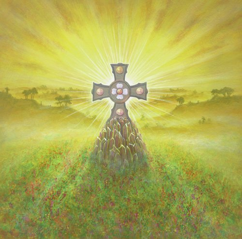 quadros-modernos - Quadro -Celtic Cross (acrylic on canvas)- - Cook, Simon