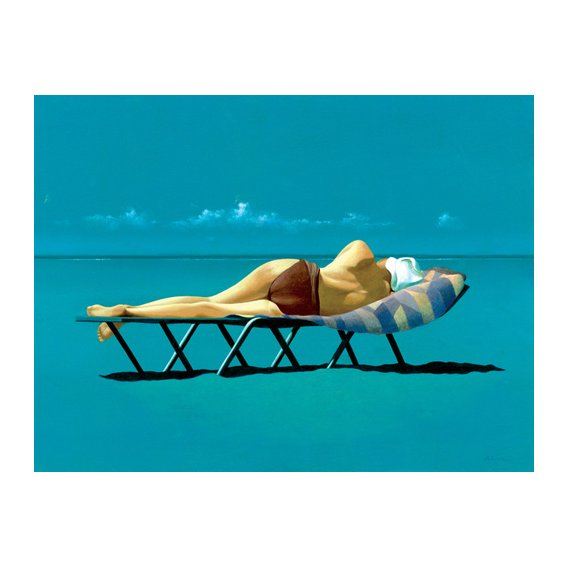 Quadro -Sunbather (oil on canvas)-