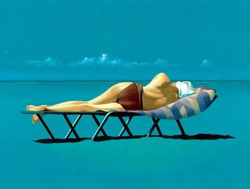quadros-modernos - Quadro -Sunbather (oil on canvas)- - Cook, Simon