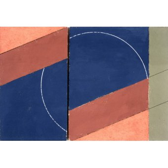 Quadros abstratos - Quadro -Painting - Interrupted Circle, 2000 (oil on board)- - Dannatt, George