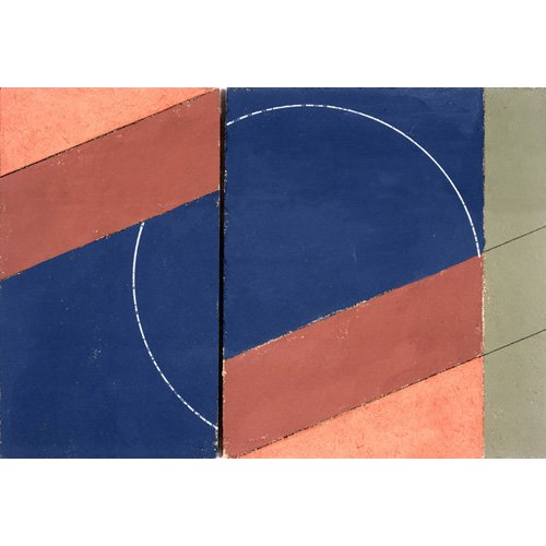 Quadro -Painting - Interrupted Circle, 2000 (oil on board)-