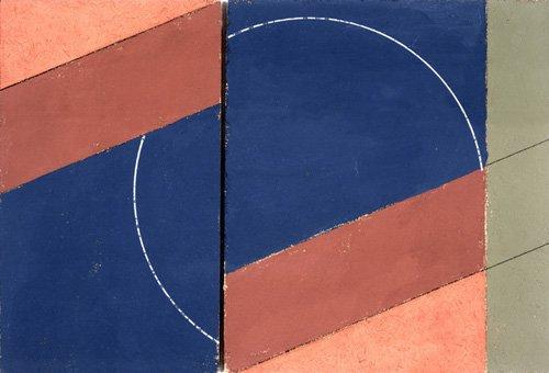 quadros-abstratos - Quadro -Painting - Interrupted Circle, 2000 (oil on board)- - Dannatt, George