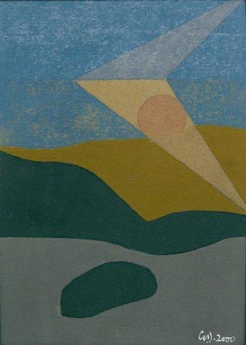 quadros-abstratos - Quadro -Untitled, 2000 (oil on card)- - Dannatt, George