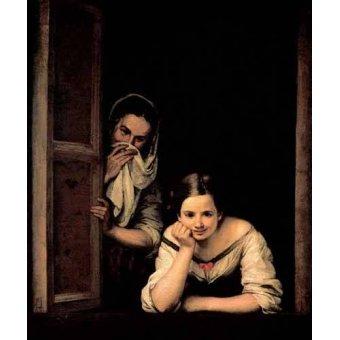 - Quadro -Gallegas en la ventana- - Murillo, Bartolome Esteban