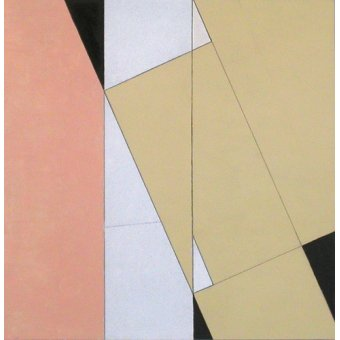 Quadros abstratos - Quadro -Spatial Relationship, No 2, 2003 (oil on paper and board)- - Dannatt, George