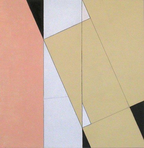 quadros-abstratos - Quadro -Spatial Relationship, No 2, 2003 (oil on paper and board)- - Dannatt, George