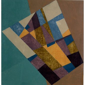 Quadros abstratos - Quadro -Field Tapestry, 2003 (oil on card)- - Dannatt, George