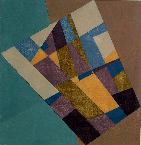 quadros-abstratos - Quadro -Field Tapestry, 2003 (oil on card)- - Dannatt, George