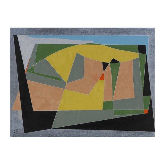 Quadro -A Landscape by the Sea, 2007 (oil on board)-
