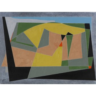 Quadros abstratos - Quadro -A Landscape by the Sea, 2007 (oil on board)- - Dannatt, George