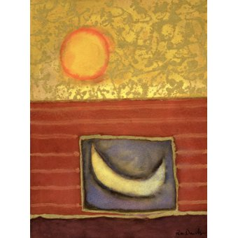 Quadros abstratos - Quadro -The Sun Rises While the Moon Sleeps- - Davidson, Peter