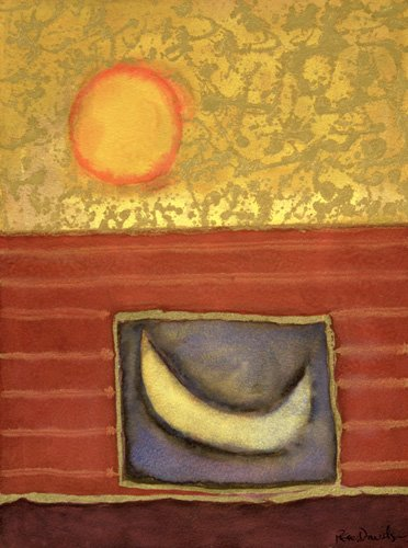 quadros-modernos - Quadro -The Sun Rises While the Moon Sleeps- - Davidson, Peter