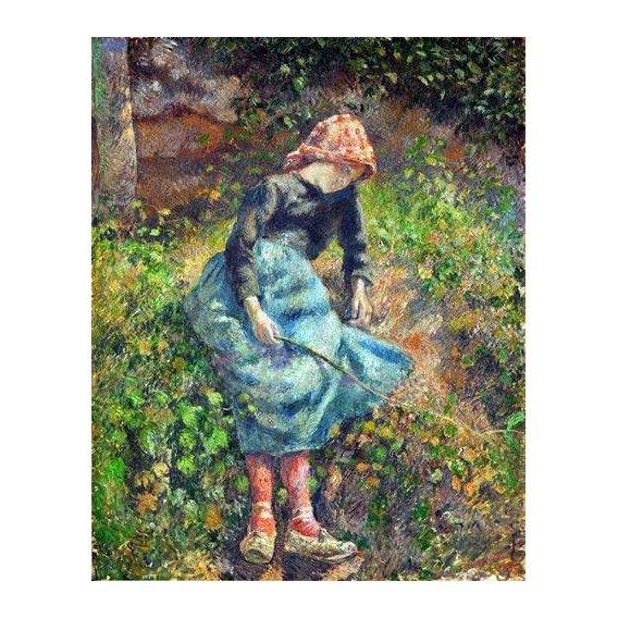cuadros de retrato - Cuadro -Joven con una varita, 1881-
