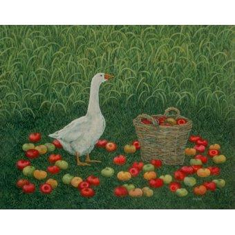 quadros de animais - Quadro -The Apple Basket- - Ditz
