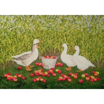 quadros de animais - Quadro -Sweetcorn-Geese- - Ditz
