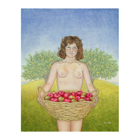 Quadro -An Apple a Day, Triptych Part Two-
